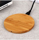 5W ไม้ไร้สายไม้ไผ่ Wireless Charger, Over - Temperature Protection Qi Charging Pad